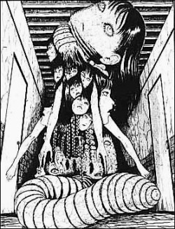 an experiment involving Tomie and an innocent girl...